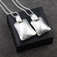 Кулоны из серебра, Серебро 925 пробы, Прямоугольная форма, разный размер для выбора & Женский, отверстие:Приблизительно 17mm, продается PC