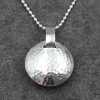 Кулоны из серебра, Серебро 925 пробы, Круглая, Женский, 41x50mm, отверстие:Приблизительно 13mm, продается PC
