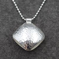 Кулоны из серебра, Серебро 925 пробы, Squaredelle, 41x53mm, отверстие:Приблизительно 7mm, продается PC