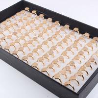 Кубический циркон микро проложить кольцо-латунь, Латунь, Шестиугольник, плакирован золотом, инкрустированное микро кубического циркония & Женский, не содержит свинец и кадмий, 16-20mm, размер:5-10, продается PC