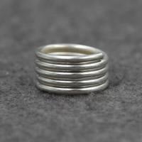 Cеребряное кольцо, Серебро 925 пробы, 11mm, размер:7, продается PC