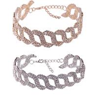 Ожерелье Мода Choker, цинковый сплав, с 5.5Inch наполнитель цепи, Другое покрытие, Женский & со стразами, Много цветов для выбора, не содержит никель, свинец, 25mm, Продан через Приблизительно 11.4 дюймовый Strand