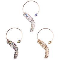 Ожерелье Мода Choker, цинковый сплав, с Кристаллы, плакирован золотом, Женский & граненый & со стразами, Много цветов для выбора, не содержит никель, свинец, 180mm, Продан через Приблизительно 12.9 дюймовый Strand