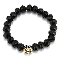 Кристалл браслеты, Кристаллы, с нержавеющая сталь, плакирован золотом, Женский & эмаль & граненый, 11mm, 7x10mm, Продан через Приблизительно 7 дюймовый Strand