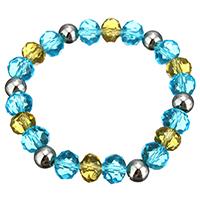 Кристалл браслеты, Кристаллы, с нержавеющая сталь, Женский & граненый, 8x10mm, 8mm, Продан через Приблизительно 7 дюймовый Strand