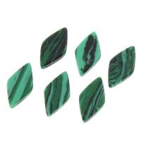 малахит кабошон, Ромбическая форма, зеленый, 5x10x1.50mm, 100ПК/сумка, продается сумка