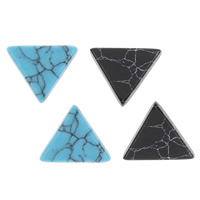 Синтетическая бирюза кабошон, Треугольник, Много цветов для выбора, 17x17x2mm, 100ПК/сумка, продается сумка