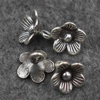 Подвески из настоящего балийского серебра, Таиланд, Flower Bud, 8x8mm, отверстие:Приблизительно 2mm, продается PC