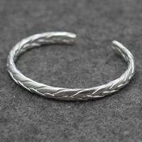 Серебро 925 пробы браслет-манжеты, Мужская, 6mm, внутренний диаметр:Приблизительно 60mm, продается PC