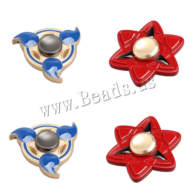 Buy Finger Hand Fidget Spinner Gyroscope Toys Zinc Alloy plated painted & different styles choice lead & cadmium free 59mm Sold PC