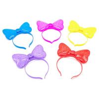 пластик Повязка для волос, Бантик, для детей & LED, Много цветов для выбора, 160x85mm, 3ПК/сумка, продается сумка