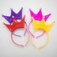 пластик Повязка для волос, Корона, для детей & LED & со стразами, Много цветов для выбора, 170mm, 3ПК/сумка, продается сумка