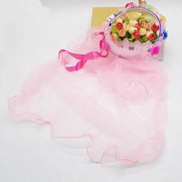 Органза Veil, с Сатиновая лента, для детей & LED, 500x500mm, 3ПК/сумка, продается сумка