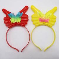 пластик Повязка для волос, для детей & LED, Много цветов для выбора, 120mm, 3ПК/сумка, продается сумка