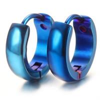 титан На английском замке Хооп серьги, синий покрыло, 4mm, продается Пара