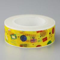 Декоративные ленты, бумага, Круглая форма, липкие, 15mm, 10ПК/сумка, 10м/PC, продается сумка