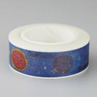 Декоративные ленты, бумага, Круглая форма, липкие & с письмо узором, 15mm, 10ПК/сумка, 10м/PC, продается сумка