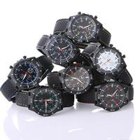 Часы унисекс, Силикон, с заголовка из цинкового сплава & Стеклянный, Другое покрытие, Мужская & регулируемый, Много цветов для выбора, не содержит никель, свинец, 43x6mm, длина:Приблизительно 9.8 дюймовый, продается PC