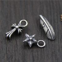 Подвески из настоящего балийского серебра, Таиланд, разные стили для выбора, отверстие:Приблизительно 2-3mm, 10ПК/Лот, продается Лот
