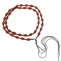 Шнуры для ожерелий, красный агат, Овальная форма, 6x10mm, Продан через Приблизительно 23 дюймовый Strand