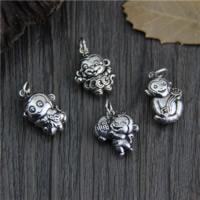 Подвески из настоящего балийского серебра, Таиланд, обезьяна, разные стили для выбора, отверстие:Приблизительно 2mm, 5ПК/Лот, продается Лот