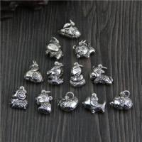 Подвески из настоящего балийского серебра, Таиланд, разнообразный, 13.66-18.2x11.9-18.7mm, отверстие:Приблизительно 2mm, 5ПК/Лот, продается Лот