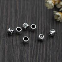 Бусины из настоящего балийского серебра, Таиланд, Цилиндрическая форма, 4.50mm, отверстие:Приблизительно 2.5mm, 50ПК/Лот, продается Лот
