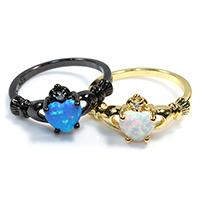 Кубический циркон микро проложить кольцо-латунь, Латунь, Сердце, Другое покрытие, инкрустированное микро кубического циркония & Женский, Много цветов для выбора, не содержит никель, свинец, 7x9mm, размер:8, 5ПК/Лот, продается Лот
