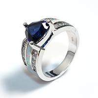 Кубический циркон микро проложить кольцо-латунь, Латунь, покрытый платиной, инкрустированное микро кубического циркония & Женский, не содержит никель, свинец, 11x10mm, размер:8, 5ПК/Лот, продается Лот
