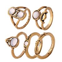 Модные кольца, цинковый сплав, с канифоль, плакированный цветом под старое золото, Женский, не содержит никель, свинец, 14mm, 20mm, размер:4.5-6.5, 5ПК/указан, продается указан