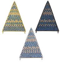 Цирконий Micro Pave латунь подвеска, Латунь, Треугольник, Другое покрытие, инкрустированное микро кубического циркония & двойное отверстие, Много цветов для выбора, не содержит никель, свинец, 27x40x2mm, отверстие:Приблизительно 0.5mm, 3ПК/Лот, продается Лот