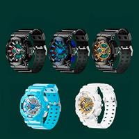 Часы унисекс, нержавеющая сталь, с канифоль & пластик, Другое покрытие, многофункциональный & Мужская & регулируемый & разный размер для выбора & водонепроницаемый, Много цветов для выбора, длина:Приблизительно 9.5 дюймовый, Приблизительно 6.5 дюймовый, продается PC