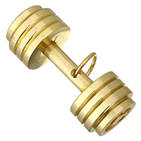 Ювелирные подвески из нержавеющей стали, нержавеющая сталь, Штанга, плакирован золотом, 35x15x15mm, отверстие:Приблизительно 7mm, продается PC
