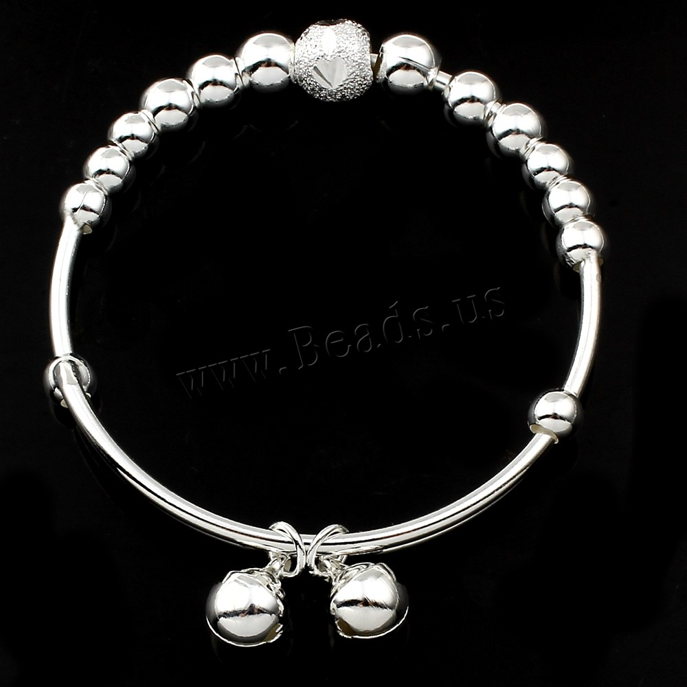 Buy Clearance Fashion Bracelet Zinc Alloy platinum color plated bell & adjustable & woman lead & cadmium free 53x52x8mm Inner Diameter:Approx 47.5mm Sold Per Approx 9.5 Inch Strand