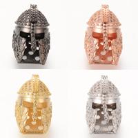 Кубический цирконий микро проложить латунные бусины, Латунь, шлем, Другое покрытие, инкрустированное микро кубического циркония, Много цветов для выбора, не содержит никель, свинец, 20.3x14mm, отверстие:Приблизительно 2-3mm, 5ПК/сумка, продается сумка