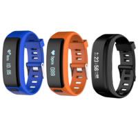 Часы унисекс, пластик, с закаленное стекло & Силикон, Другое покрытие, Измерение частоты сердечных сокращений & монитор сна & 3D шагомер & Мужская & сенсорный экран & LED & водонепроницаемый, Много цветов для выбора, 42.50x51x10.50mm, длина:Приблизительно 10.5 дюймовый, продается PC