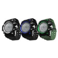 Часы унисекс, пластик, с ТПУ пластик, Другое покрытие, Измерение частоты сердечных сокращений & монитор сна & 3D шагомер & Мужская & сенсорный экран & LED & водонепроницаемый, Много цветов для выбора, 62x56x16.80mm, длина:Приблизительно 10.5 дюймовый, продается PC