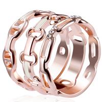 Модные кольца, цинковый сплав, плакированный цветом розового золота, разный размер для выбора & Женский & со стразами, не содержит свинец и кадмий, 16mm-19mm, продается Пара