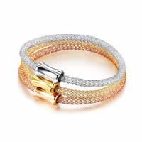 Трубка браслет, нержавеющая сталь, с Кристаллы, нержавеющая сталь замок магнитный, Другое покрытие, Женский & отверстие, 4mm, внутренний диаметр:Приблизительно 60mm, 3ПК/указан, продается указан