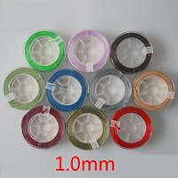 Вощеный шнур нейлона Шнурок, с пластиковые катушки, Много цветов для выбора, 1mm, 15м/Золотник, продается Золотник