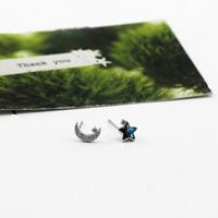 Асимметричные серьги, Латунь, плакированный настоящим серебром, со стразами, не содержит никель, свинец, 4x6mm, 7mm, продается Пара