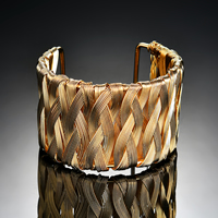 Железо браслет-манжеты, плакирован золотом, Женский, не содержит свинец и кадмий, 60x43mm, внутренний диаметр:Приблизительно 60mm, длина:Приблизительно 7 дюймовый, продается PC