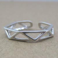 Серебро 925 пробы Манжеты палец кольцо, Женский, 2-3mm, размер:6-8, продается PC