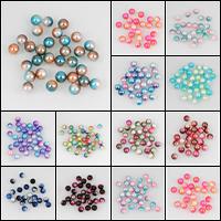 ABS пластмассовые Бусины, ABS пластик жемчужина, Круглая, разный размер для выбора & нет отверстия, Много цветов для выбора, продается сумка