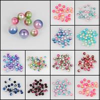 ABS пластмассовые Бусины, ABS пластик жемчужина, Круглая, разный размер для выбора, Много цветов для выбора, отверстие:Приблизительно 1mm, продается сумка