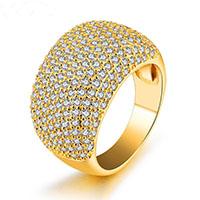 Модные кольца, цинковый сплав, плакирован золотом, разный размер для выбора & Женский, 14mm, продается PC
