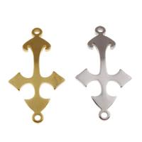 Соединители из нержавеющей стали, нержавеющая сталь, Kресты, Другое покрытие, 1/1 петля, Много цветов для выбора, 13x25x1mm, отверстие:Приблизительно 2mm, продается PC