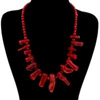 Коралловые ожерелья, Натуральный коралл, Женский, 7-14mm, Продан через Приблизительно 20 дюймовый Strand