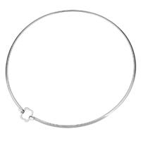 Воротник Ожерелье, нержавеющая сталь, с 1.5,1.5lnch наполнитель цепи, Женский, оригинальный цвет, 16x15mm,3mm, внутренний диаметр:Приблизительно 136mm, продается PC