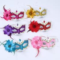 Fashion Party Mask, пластик, Связанный вручную, для детей, разноцветный, 100x300mm, 5ПК/сумка, продается сумка